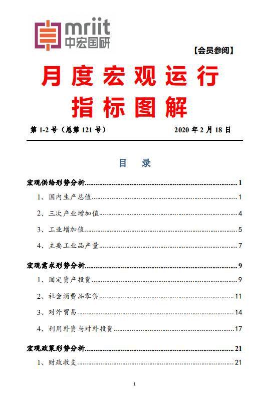 中宏国研月度宏观运行指标图解