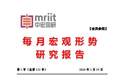 2020年第1号(总121号)中宏国研月度宏观经济研究报告