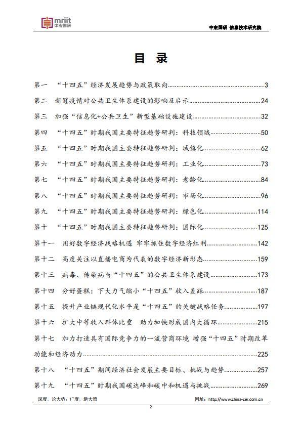 """""""十四五""""规划系列研究报告"""